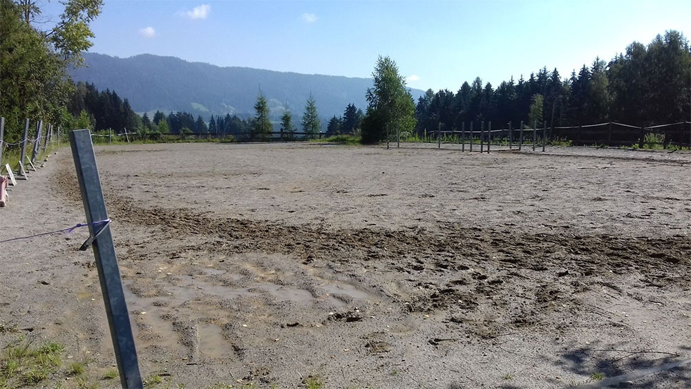 Reitplatz des Reiterhof Kaidern in Kaidern bei Feldkirchen in Kärnten